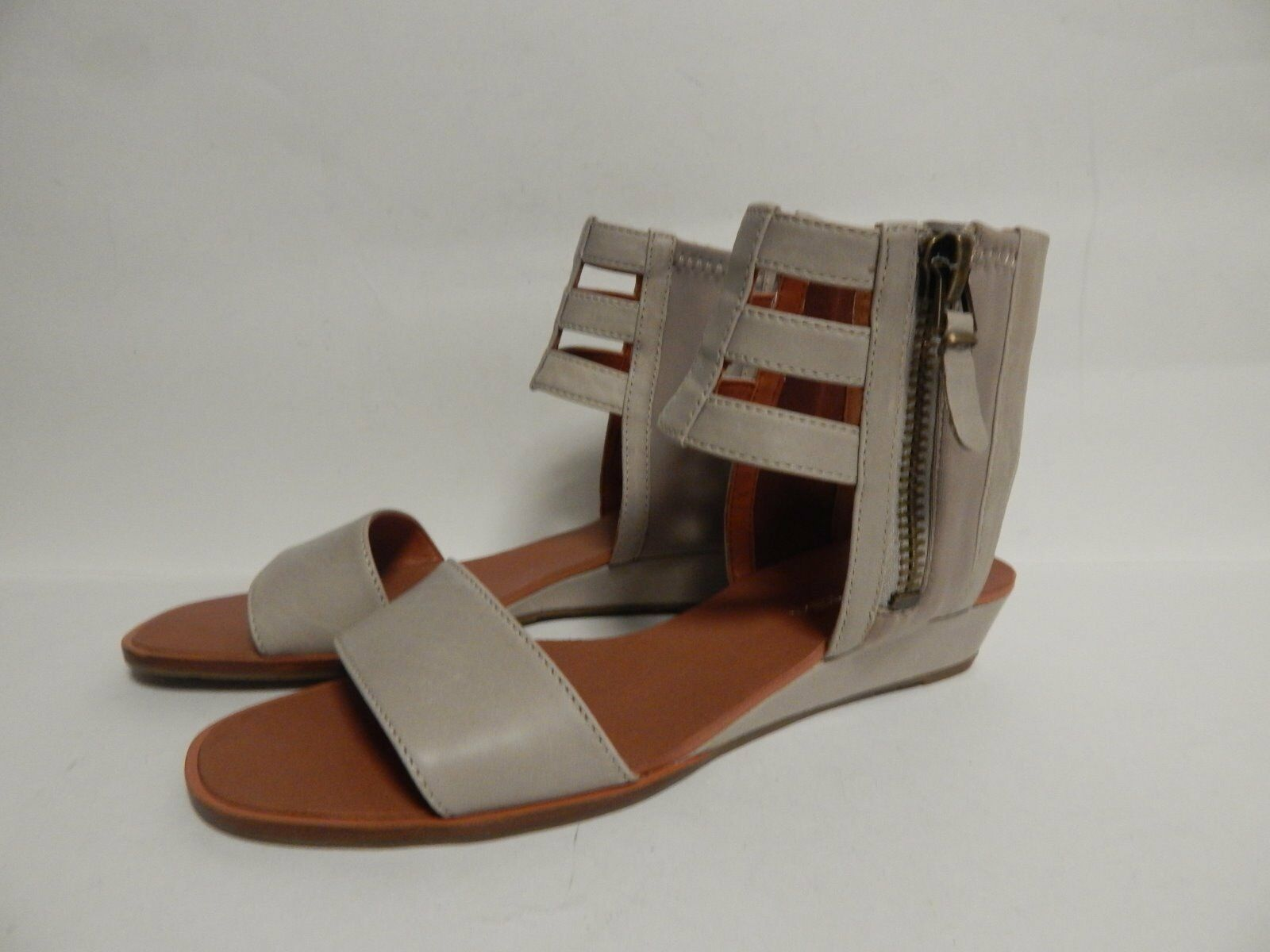 Via Spiga Patrice Caged Sandals 7.5 M Taupe Leather  New with Box