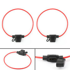 1set Black Small In Line 16AWG Waterproof Blade Fuse Holder for Car//Boat//Truck
