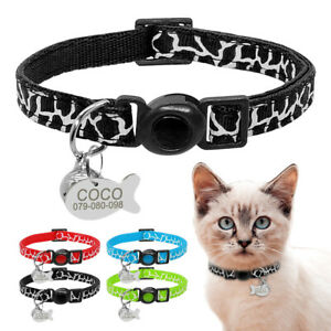 Pet-Puppy-Dog-Cat-Breakaway-Collar-amp-Tag-Engraved-Anti-Lost-Safety-Quick-Release