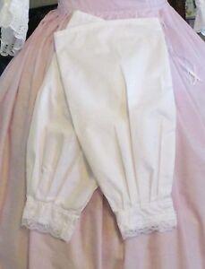 CIVIL WAR DRESS VICTORIAN ACCESSORIES LADY'S 100% COTTON SNOW WHITE UNDERSLEEVES
