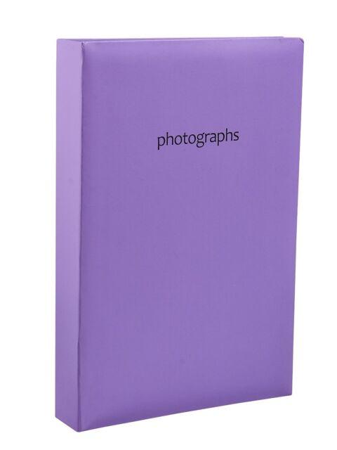 Large Memo Slip In Case Photo Album For 300 10x15 cm Photos - PURPLE- SM300PE