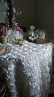 White Rose Tablecloths 120 Round