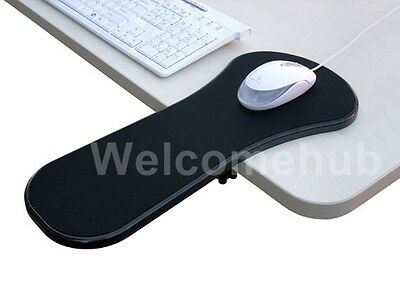 Black Home Office Computer Arm Rest  Chair Desk Armrest Mouse Pad Support 450mm
