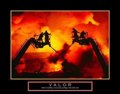 Valor: Firefighter Art Poster Print, 28x22