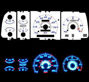 NEW-92-93-94-Mazda-B2000-Pick-Up-with-Tach-Blue-Indiglo-Glow-White-Gauge