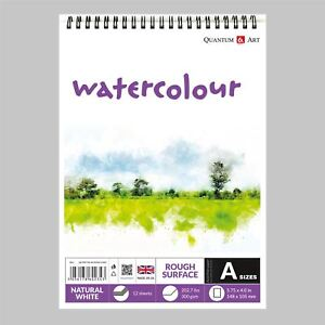 Watercolour-Rough-Surface-Pad-Drawing-Artist-Paper-on-Spiral-Book-300gsm