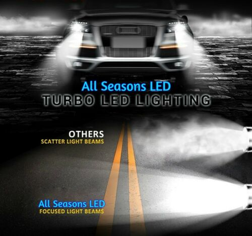 H11 /& 9005-6000K 2 Sets Hi//Lo Gold Edition LED Headlight Kit 7200Lm /& 60W//Set