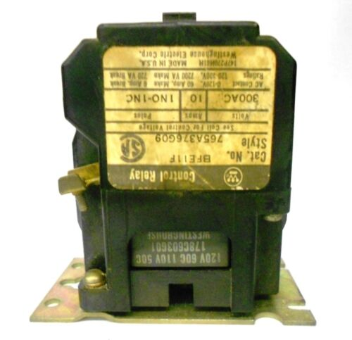 CONTROL RELAY 765A376G09 BFE11F WESTINGHOUSE
