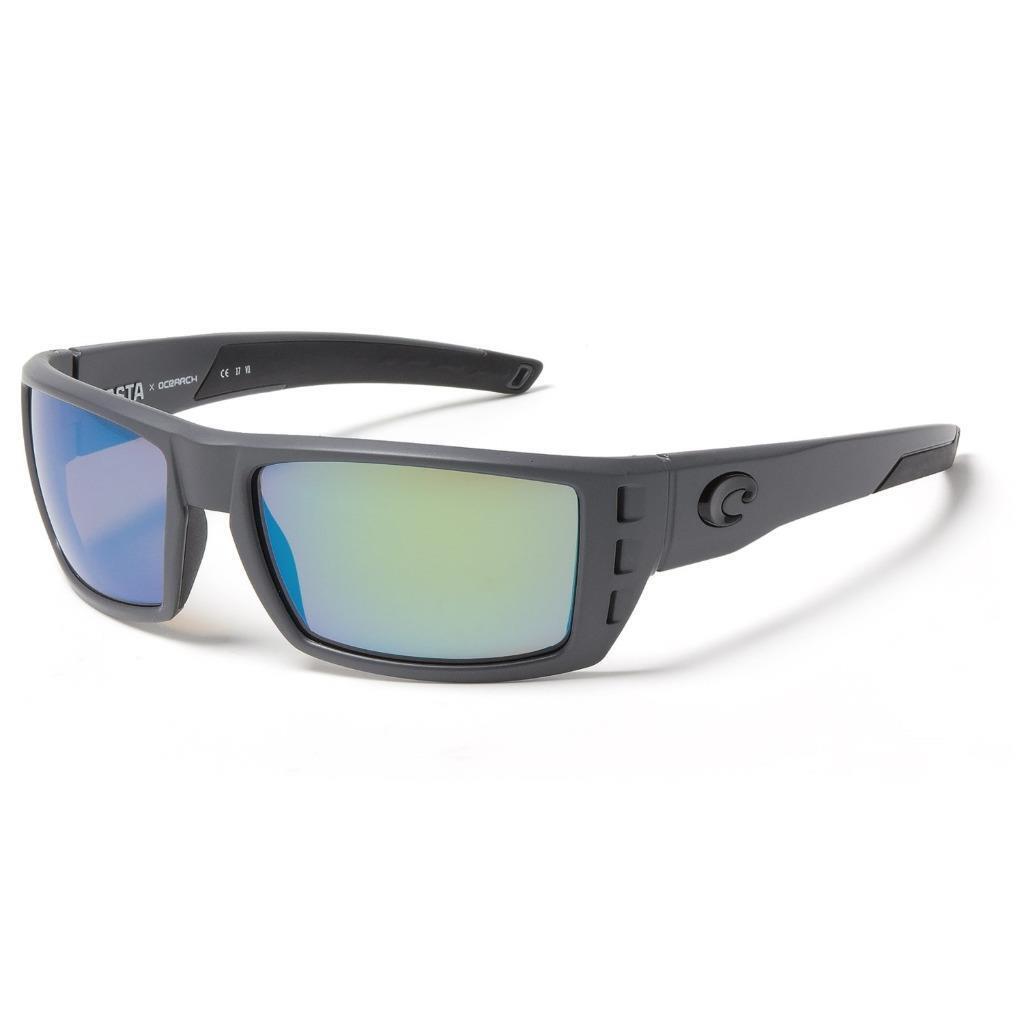 Costa Del Mar Rafael OCEARCH OCEARCH OCEARCH Polarized Sunglasses 400G Glass Matte grau/Grün bc73cf