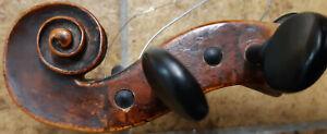 4-4-Violine-uralt-Schnecke-angeschaftet-Charakter-Geige