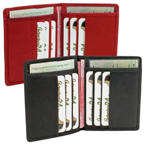 Carte classeur Ausweisetui Carte Housse noire ou rouge en cuir véritable neuf rangement