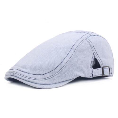 Unisex Beret Peaked Cap Jean Cowboy Hat Washed Denim Cotton Advance Casual Hat Z
