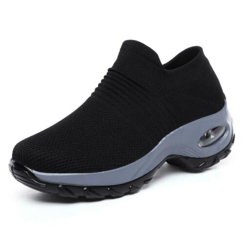 Womens Air Slip On Mesh Casual Shoes Breathable Walking Outdoor Running Sneakers