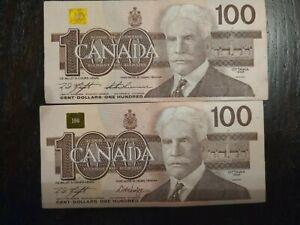2x-100-Dollar-Canada-Bank-Note-1988