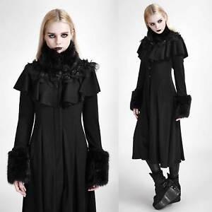 Das Bild wird geladen PUNK-RAVE-Karenina-Mantel-Gothic-Mantel-schwarz-mit- 755d3904c8