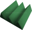 Acoustic-Foam-48pcs-PRO-PACK-Forest-Green-Wedge12X12x4-034-Soundproof-Studio-Tiles thumbnail 4