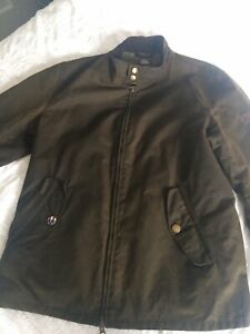 Barbour-Steve-McQueen-Harrington-Wax-Jacket-Olive-Medium