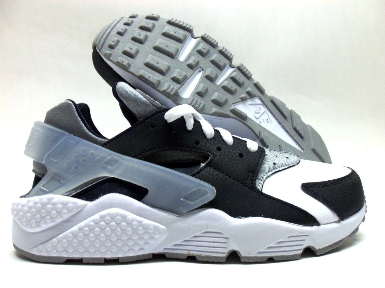 NIKE AIR AIR AIR HUARACHE PREMIUM ID BLACK WHITE-COOL GREY SIZE WOMEN'S 8.5 2283de