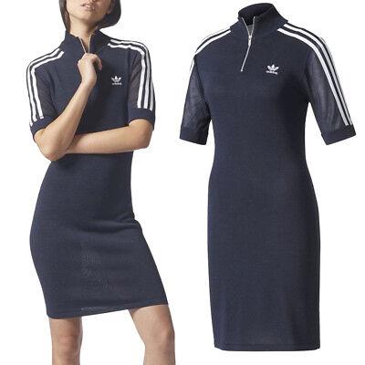 rodear Chapoteo impaciente  adidas Originals Womens 3 Stripe Stretch Knit Retro Short Sleeve ...