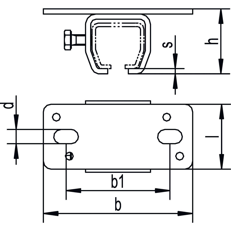 HELM Agrar Schiebetür Schiebetür Schiebetür Beschlag Schiebetorschiene Stahl verzinkt Type 400 Woelm 80e2fd