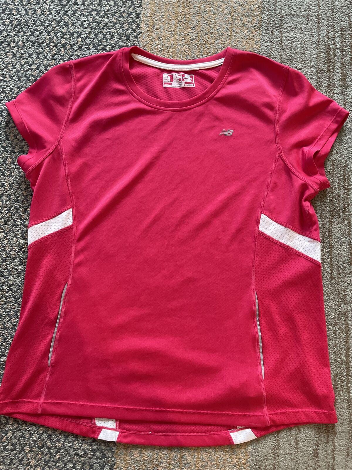NEW BALANCE Women ATHLETIC WORKOUT Gym T-shirt dri-fit Tee XL