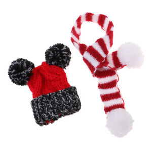12/'/' Doll Red Clothes Xmas Hat Knitted Scarf For  Doll Licca