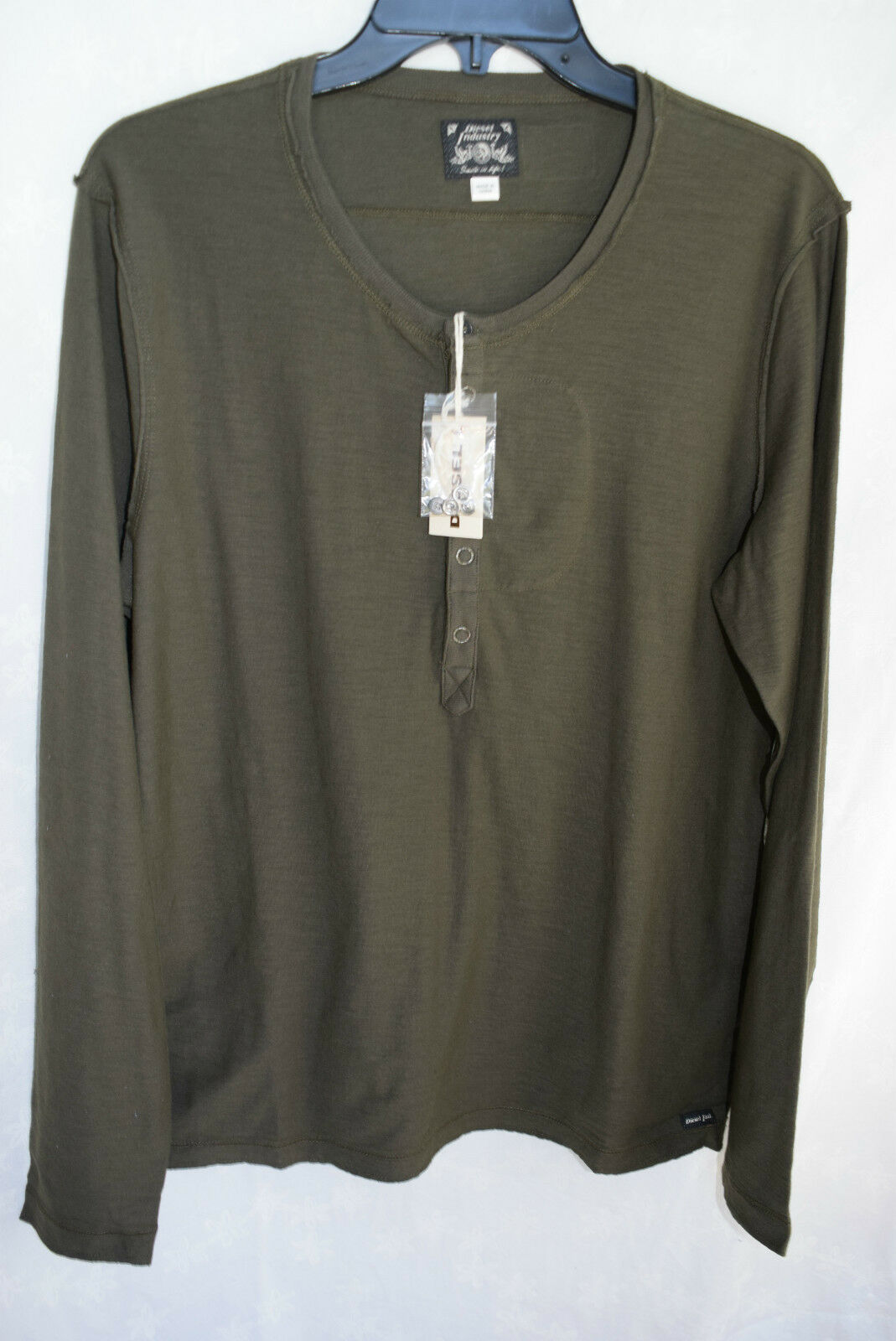 NWT  Diesel Men's T-Canopy RS Long Sleeve Henley Shirt