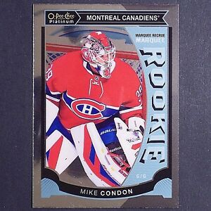 MIKE-CONDON-RC-2015-16-OPC-Platinum-M32-Montreal-Canadiens-Rookie-single