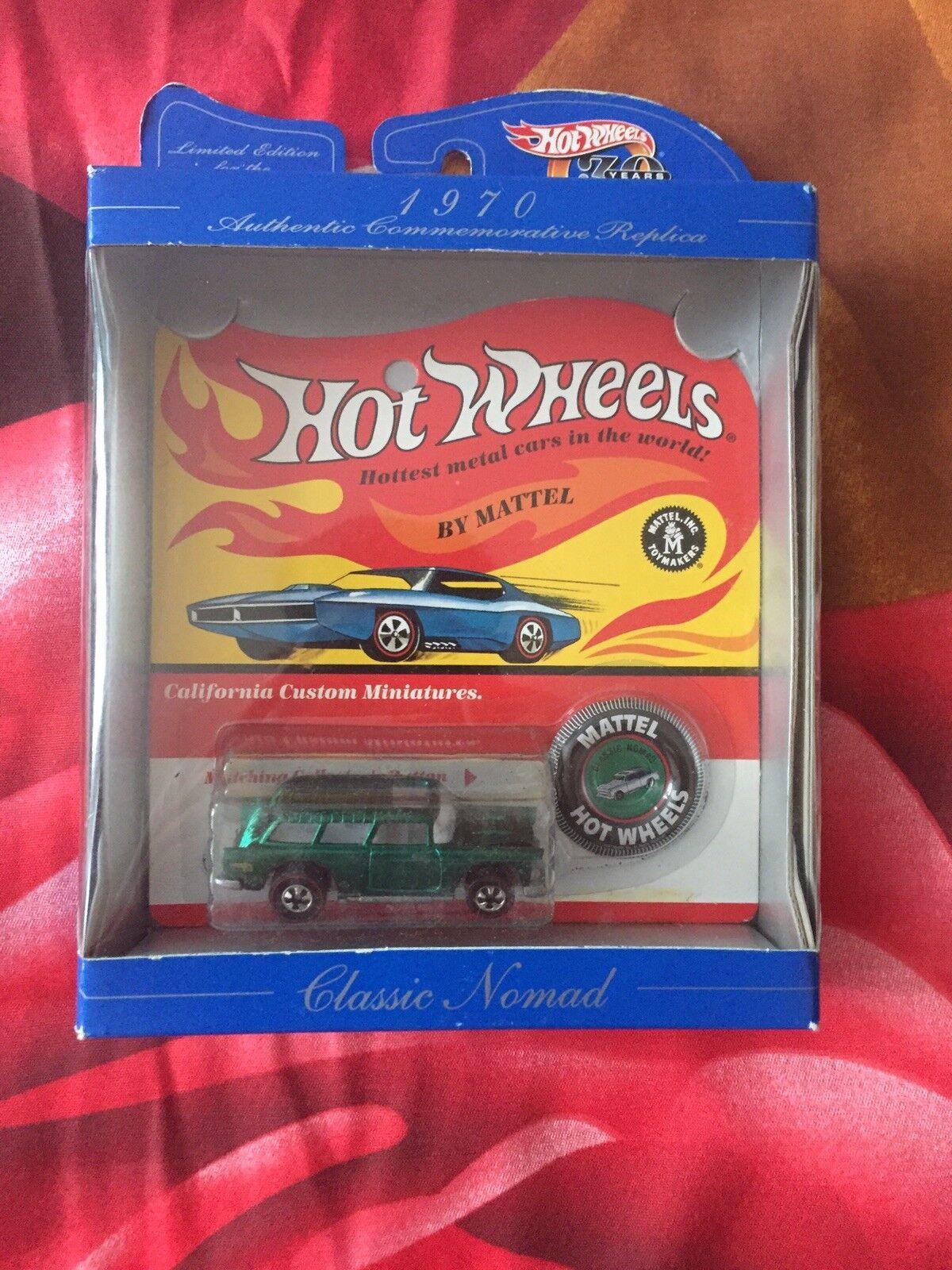 Hot Wheels 1970 Classic Nomad Redline California Authentic Replica Rare Mattel