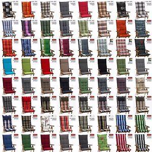 60 farben zur wahl hochlehner sessel auflagen polster kissen sesselauflagen ebay. Black Bedroom Furniture Sets. Home Design Ideas