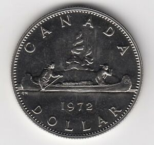 1972-CANADA-Dollar-In-Brilliant-UNCirculated-Condition-Very-Nice-Piece-5179