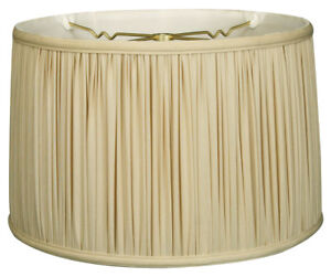 Shallow drum gather pleat lamp shade bs 750 ebay image is loading shallow drum gather pleat lamp shade bs 750 mozeypictures Images