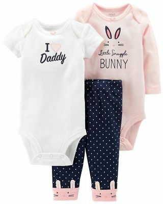 New Carter/'s 3 Piece Turn Around Bunny Outfit Set 24m 18m 12m 9m 6m 3 NB