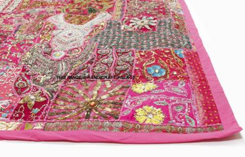 Indian Embroidered Patchwork Beaded Tapestry Sequins Mirrors Work Home Decor