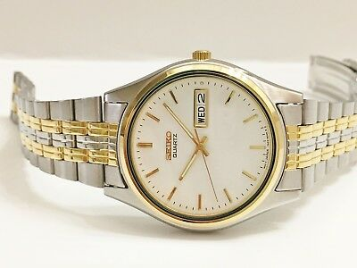 Seiko Sgf244 Men's Rare Retro Non-working Sample Quartz Analog Watch 7n43 9018 Outstanding Features Jewelry & Watches