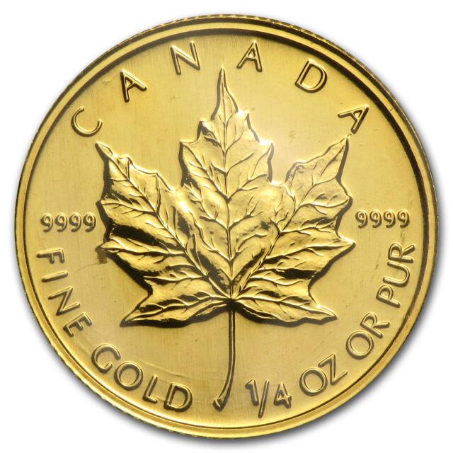 1992 Canada 1/4 oz Gold Maple Leaf BU - SKU#82838