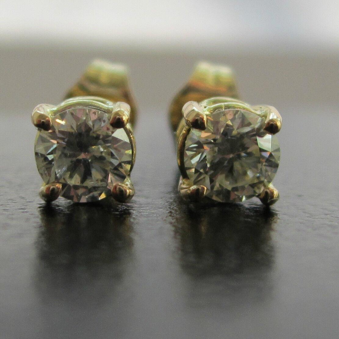 Brand New 0.45ct Diamond 9ct Yellow gold Stud Earrings  Freepost