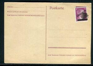Aimable Autriche - Affranchissement Hitler Biffé Sur Entier Postal , Non Circulé