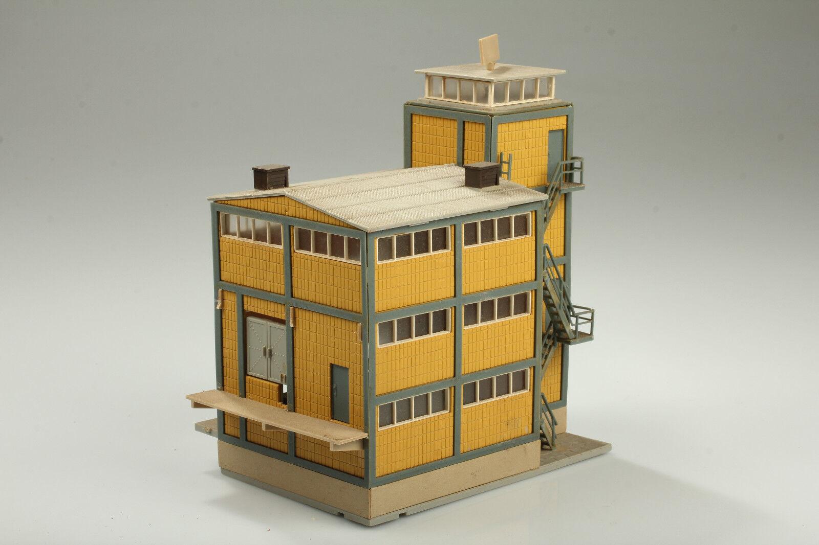 H0 VOLLMER 5620 società edificio magazzino sporco/GRAFFI/carenze/parti mancanti