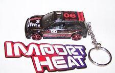 CUSTOM MADE..1990 HONDA CIVIC RACER #90 (BLACK/RED) KEYCHAIN..GREAT GIFT!