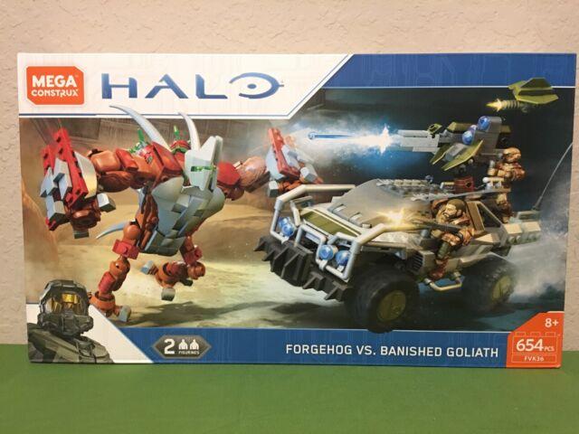 Mega Bloks Halo Mega Construx Forgehog vs  Banished Goliath Set FVK36 New  In Box