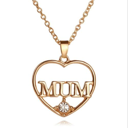 Mother Zircon Forever Necklace Jewellery Mum Heart Mummy Love Family Gift C