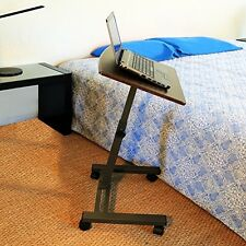 Notebook Laptop Stand Mobile Desk Wheels Tilt Bed Office Dorm Chair TV Seat Dorm