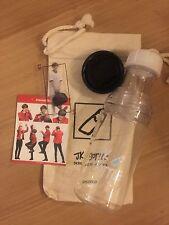 BTS Fansite Jungkook MysticRed JK Bottle with Transparent Photocard Sticker