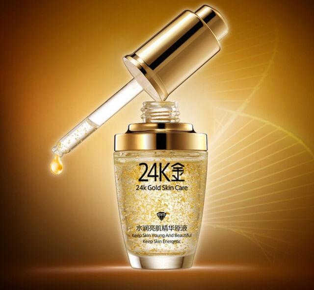 Bioaqua 24K Gold Skin Moisturising Hyaluronic Acid Liquid Whitening Serum UK
