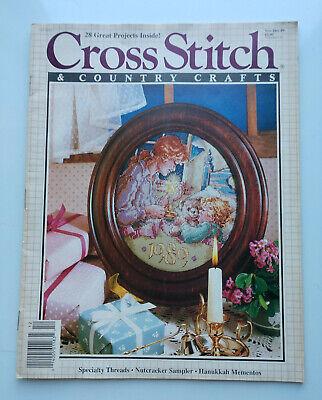 Cross Stitch And Country Crafts Cross Stitch Pattern Magazine NovemberDecember 1993