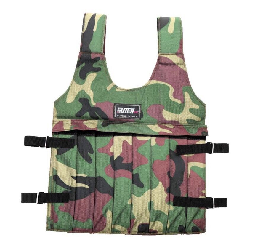 Camouflage 50kg Adjustable Weighted Vest For  Workout Training Strength Vest  save 50%-75%off