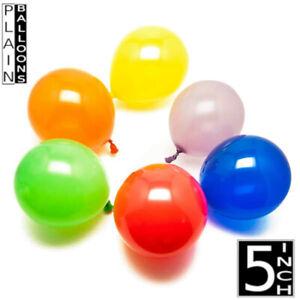 "5-100 18"" 12"" 10"" 5"" Plain/Metallic Latex Ballons À L'Hélium Ballon Fête Ballon UK"