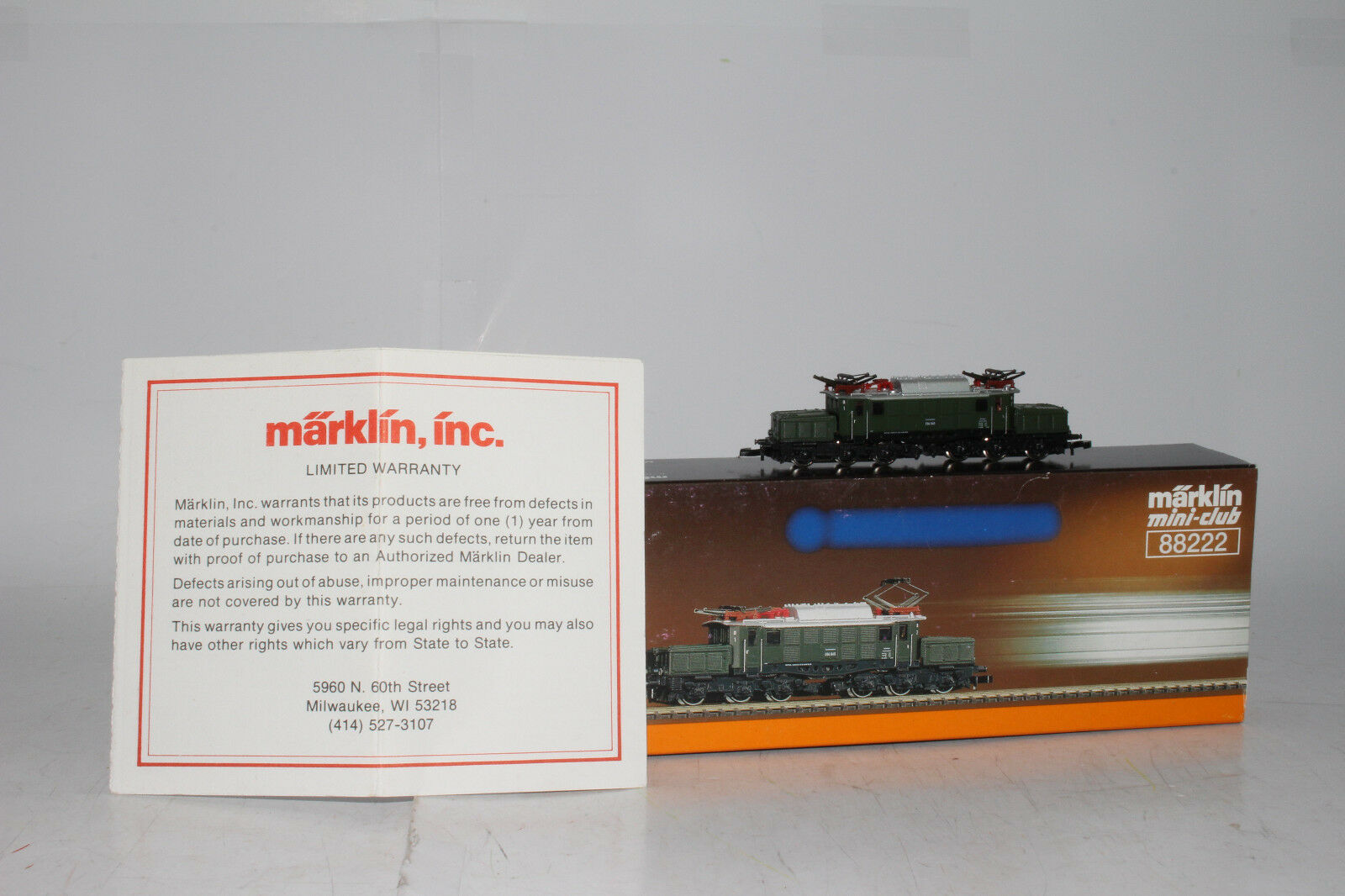 MARKLIN Z SCALE  88222, CROCODILE/KROKODIL ENGINE, DB CLASS E 94 METAL