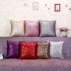 Mermaid Pillow Cover Solid Glitter Sequins Throw Cases Home Sofa Cushion Covers